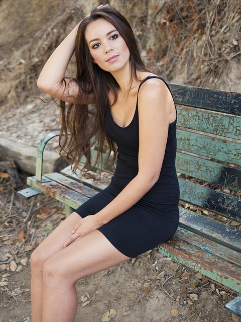 Dziewczyna w małej czarnej sukience